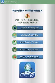 Horizont-Zeiterfassung apk screenshot