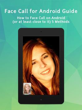 Face Call for Android Guide poster