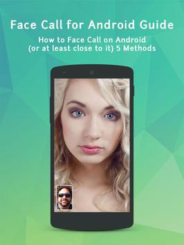 Face Call for Android Guide apk screenshot