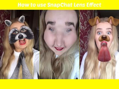 Effect Lenses Snapchat Tip poster