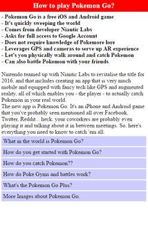 How to play Pokemon Go? poster