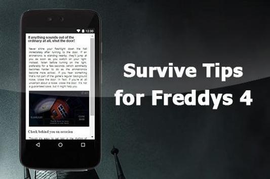 Survive Tips for Freddys 4 apk screenshot