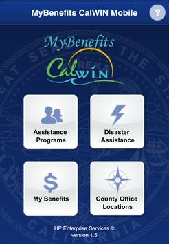 CalWIN Mobile Application poster