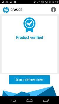 HP GPAS QR apk screenshot