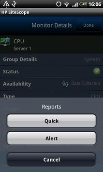 HP SiteScope apk screenshot