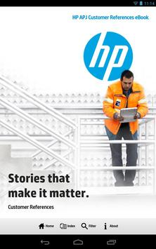 HP APJ Customer References poster