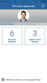SAP Leave Request and Approval apk screenshot
