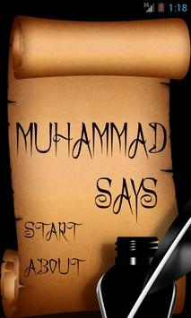 Muhammad says poster