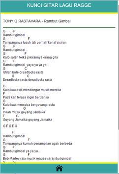 Chord Lagu Raggae apk screenshot