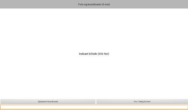 Foto og koordinater til mail apk screenshot