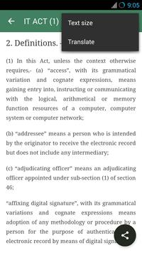 IT Act 2000 cyber law in India apk screenshot