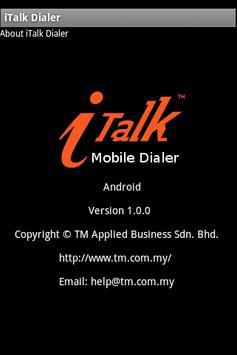 iTalk Mobile Dialer poster