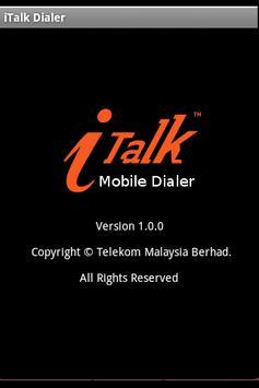 iTalk Mobile Dialer apk screenshot