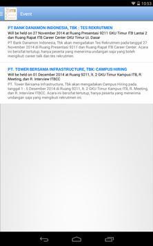 ITB Career Center apk screenshot