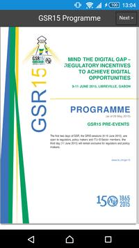 GSR15 Programme poster
