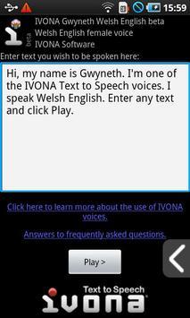 IVONA Gwyneth UK English beta poster
