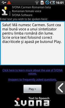 IVONA Carmen Romanian beta poster