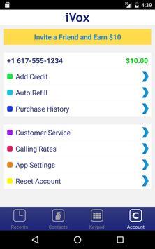 iVox Cheap International Call apk screenshot