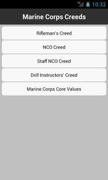 Marine Corps Creeds poster
