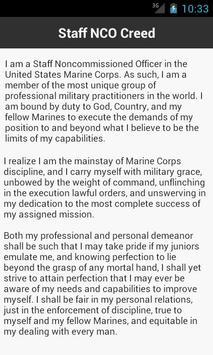 Marine Corps Creeds apk screenshot