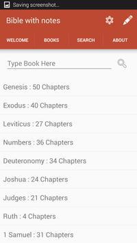 kjv bible : with notes apk screenshot