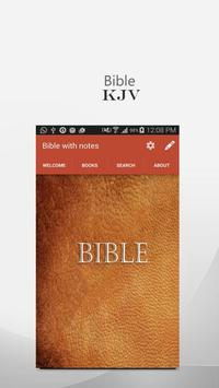 kjv bible : with notes poster