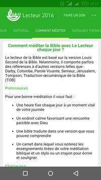 Lecteur de la Bible 2016 apk screenshot