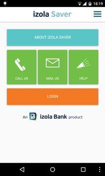 Izola Saver Mobile App poster