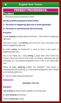 English Verb Tenses apk screenshot