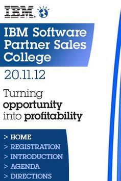 Software Partner Sales College poster