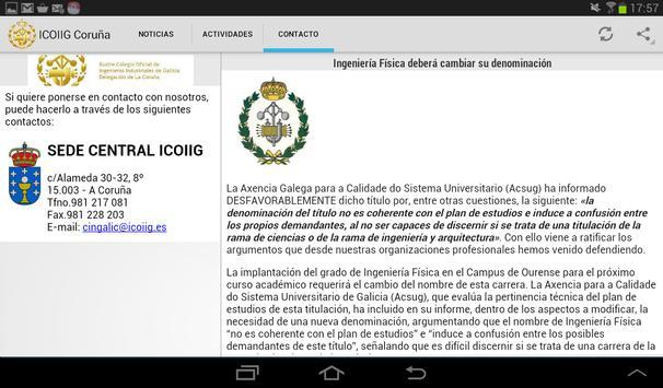 ICOIIG La Coruña apk screenshot