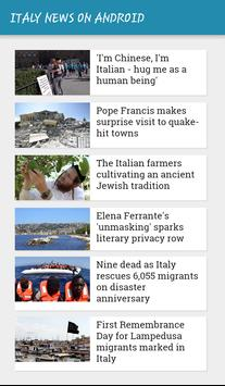 ITALY NEWS ON ANDROID apk screenshot