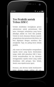 Panduan Membuat SIM apk screenshot