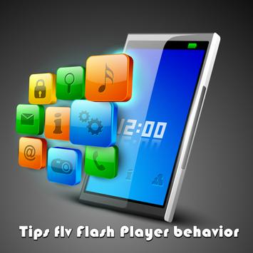 Tips flv Flash Player behavior apk screenshot