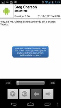SaskTel Visual Voice Mail apk screenshot