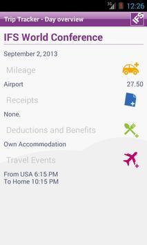 IFS Trip Tracker apk screenshot