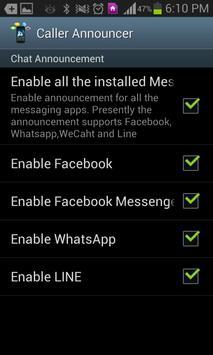 CALLER ANNOUNCER apk screenshot