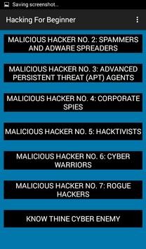 Hacking For beginners apk screenshot