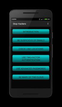 Stop Hackers apk screenshot