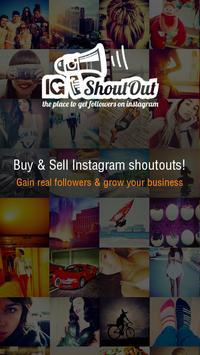 Sell Instagram Shoutouts -IGSV poster