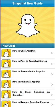 Guide for Snapchat poster