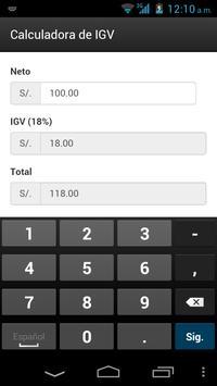 CaIculador de IGV apk screenshot