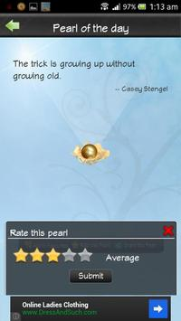 Golden Pearls - Daily Quotes apk screenshot