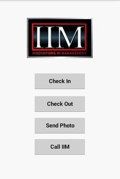 IIM Check In and Check Out poster
