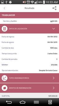 Indemnizaciones apk screenshot