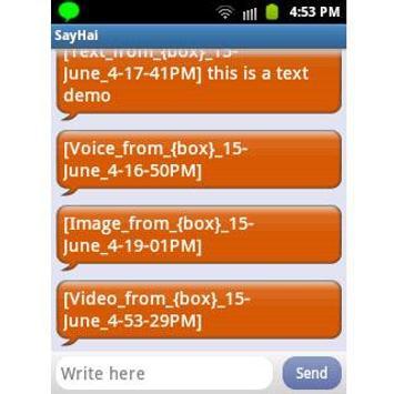 SayHai apk screenshot