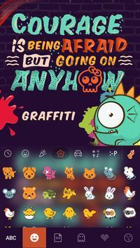 Graffiti Kika Keyboard Theme apk screenshot