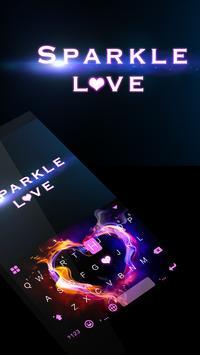 Sparkle Love 💘 Keyboard Theme poster