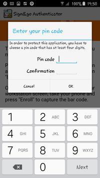 Sign&go Authenticator apk screenshot
