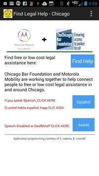 Find Legal Help - Chicago poster